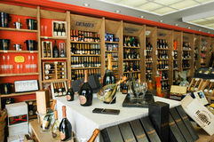 Champagne shop at Reims on France Stock Image