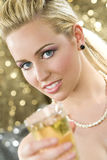 Champagne-Spaß Lizenzfreies Stockfoto