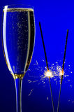 Champagne and sparkles closeup Royalty Free Stock Photo