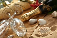 Champagne sparkling Royalty Free Stock Images
