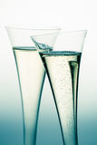 Champagne or sparkling wine in champagne glass Royalty Free Stock Image