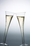 Champagne or sparkling wine in champagne glass Royalty Free Stock Photos