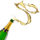 Champagne splash Royalty Free Stock Photography