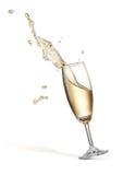 Champagne splash Royalty Free Stock Photo