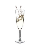 Champagne splash Stock Photography