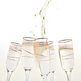 Champagne splashes. Silver. Royalty Free Stock Image