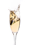 Champagne splashing Stock Photography