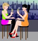 Champagne am Stab Lizenzfreies Stockfoto