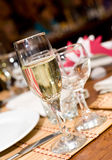 Champagne in stemware Stock Photos
