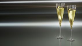 Champagne Stemware, Champagne, Stemware, Wine Glass royalty free stock photography