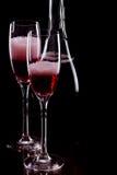 Champagne, stieg Stockbild