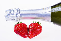 Champagne and strawberries Royalty Free Stock Photography