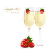 Champagne & strawberries Royalty Free Stock Image