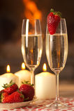 Champagne and strawberries. Royalty Free Stock Image