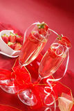 Champagne with strawberry Royalty Free Stock Photography