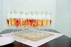 Champagne and strawberry Royalty Free Stock Photo