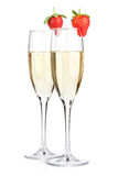 Champagne with strawberry Stock Image