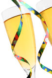 Champagne and Streamers Stock Photos