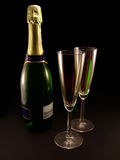 Champagne (stylish) Royalty Free Stock Photography