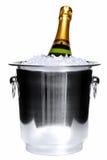 Champagne su ghiaccio Fotografia Stock Libera da Diritti