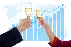 Champagne of success Royalty Free Stock Photos