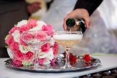 Champagne sur le mariage Image libre de droits