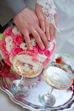 Champagne sur le mariage Photographie stock libre de droits