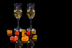 Champagne and sweets Royalty Free Stock Image