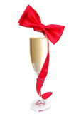Champagne and Tie Royalty Free Stock Images