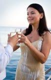 Champagne-Toast Stockfoto