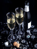 Champagne toast. Royalty Free Stock Photo