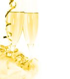 Champagne toast for holidays Stock Images