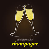 Champagne Toast - moment of celebration Stock Images