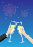 Champagne Toasting Vetora Illustration Fotografia de Stock Royalty Free