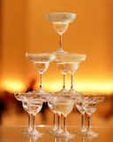 Champagne tower Royalty Free Stock Photo