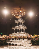Champagne tower Stock Image