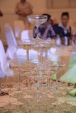 Champagne tower Royalty Free Stock Image