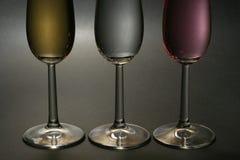 Champagne trois Photographie stock libre de droits