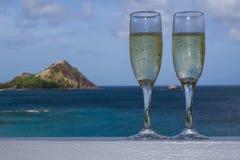 Champagne tropicale Immagini Stock