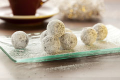 Champagne Truffles and coffee Stock Photography