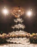 Champagne-Turm Stockbild