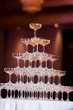 Champagne-Turm Lizenzfreies Stockbild