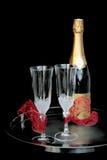 champagne två Arkivbilder