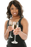 champagne två Fotografering för Bildbyråer