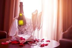 Champagne For Two Stockbilder