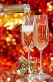 Champagne in two glasses Stock Photography