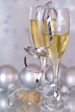 Champagne u. Flitter Stockfotos