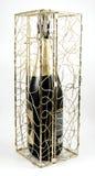 Champagne in un contenitore di regalo immagine stock