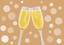 Champagne in un vetro Fotografie Stock