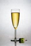 Champagne in una scanalatura immagini stock